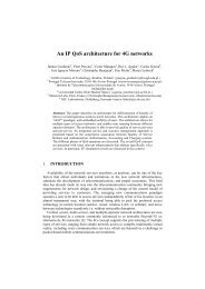 An IP QoS architecture for 4G networks