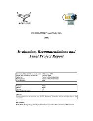 Evaluation, Recommendations and Final Project Report