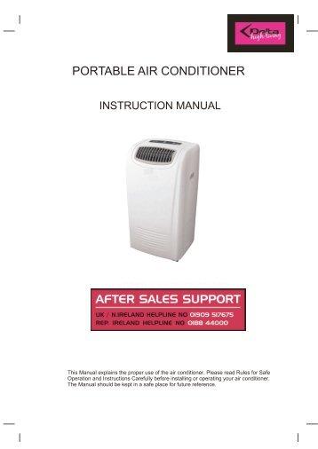 Conia air conditioner manual.