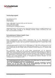 Verkaufsprospekt Schoellerbank Global Health Care