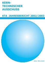 KTA JAHRESBERICHT 2002/2003