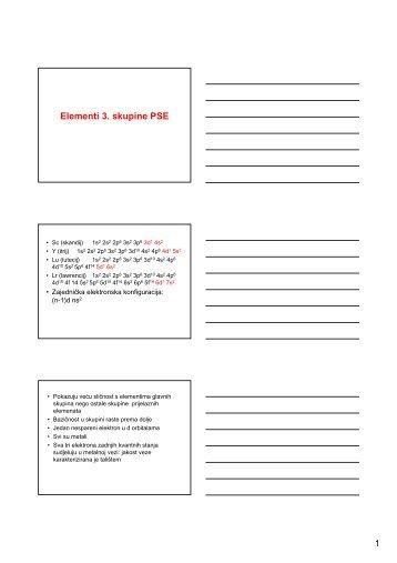 Elementi 3. skupine PSE