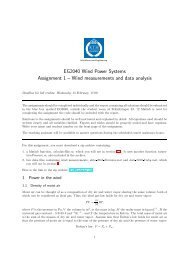 EG2040 Wind Power Systems Assignment 1 – Wind measurements ...
