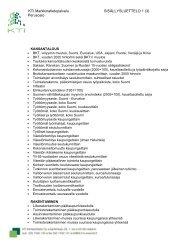 KTI Markkinatietopalvelu SISÄLLYSLUETTELO 1 (3) Perusosio