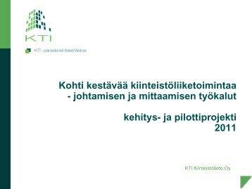 Kohti kestävää kiinteistöliiketoimintaa - KTI