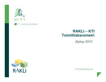 RAKLI-KTI Toimitilabarometri syksy 2012