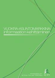 Vuokra-asuntomarkkina- informaation kehittäminen - KTI