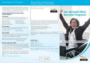 Das Microsoft Office Specialist Programm - KTK-Consulting