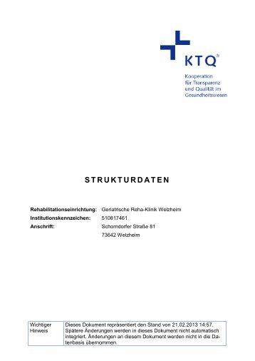 STRUKTURDATEN - KTQ