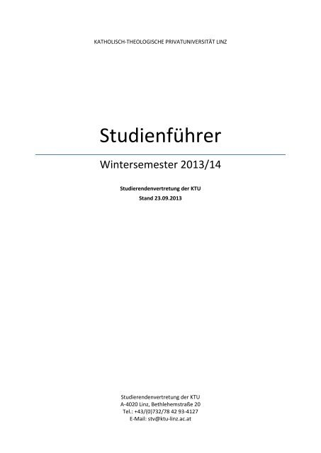 Studienführer - (KTU) Linz