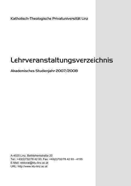Katholisch-Theologische Privatuniversität Linz