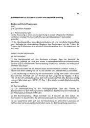 Informationen zu Bachelor-Arbeit und Bachelor-Prüfung