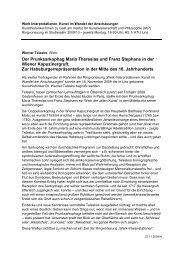 Der Prunksarkophag Maria Theresias und Franz Stephans in der ...