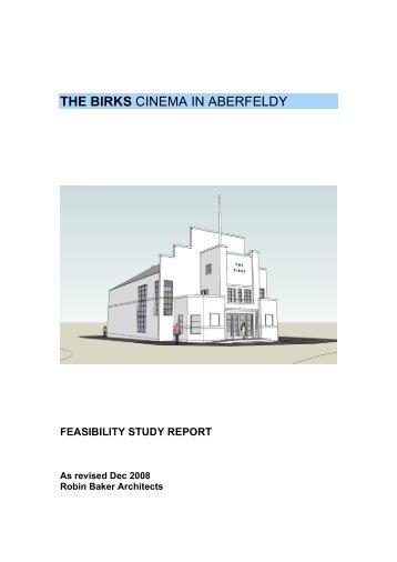 THE BIRKS CINEMA IN ABERFELDY - Friends of the Birks Cinema