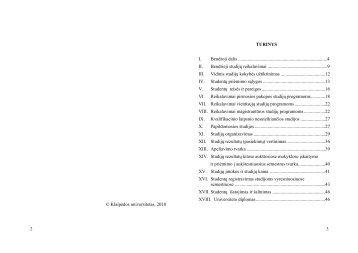 Studijų nuostatai - Klaipėdos universitetas