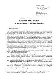 Reglamentas - Klaipėdos universitetas