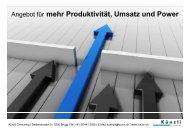Angebot für mehr Produktivität, Umsatz und Power - Künzli Consulting