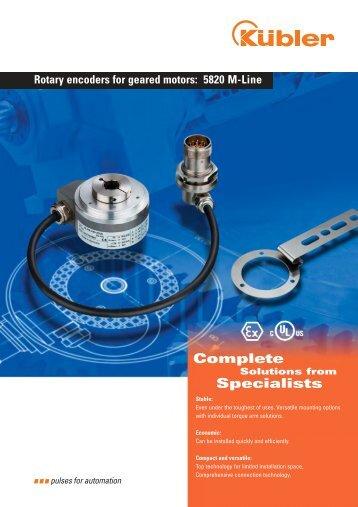 Rotary encoders for geared motors: 5820 M-Line - Fritz Kübler ...