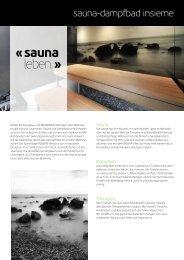 Infosheet Insieme (PDF) - Küng AG Saunabau