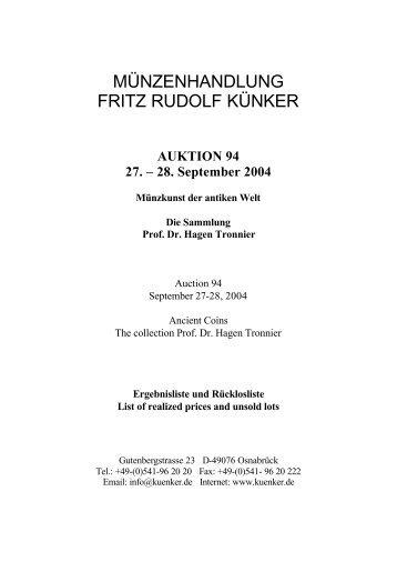 AUKTION 94 27. – 28. September 2004 Münzkunst der antiken Welt ...