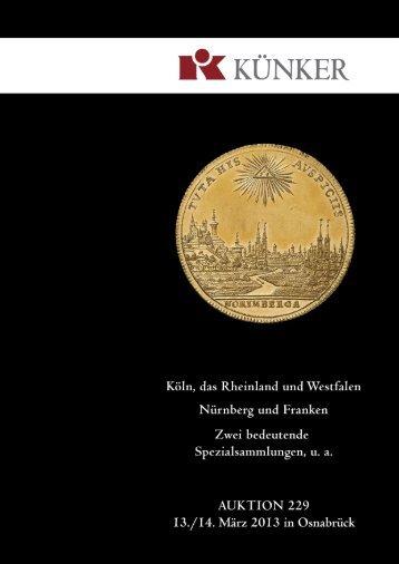 Künker eLive Auction - Fritz Rudolf Künker