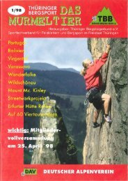 1998 Ausgabe 1 (13 MB) - Thüringer Bergsteigerbund e. V.