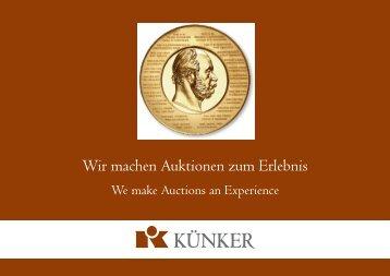 Wir machen Auktionen zum Erlebnis - Fritz Rudolf Künker