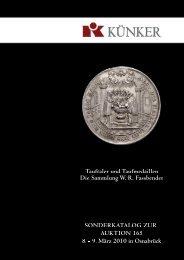 Sonderkatalog: Tauftaler und Taufmedaillen - Fritz Rudolf Künker