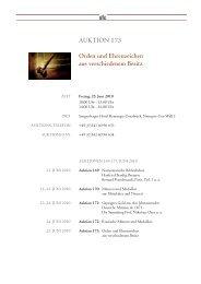 AUKTION 173 Orden und Ehrenzeichen aus verschiedenem Besitz