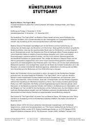 Download Pressetext deutsch PDF - Künstlerhaus Stuttgart