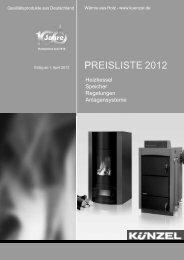 PREISLISTE 2012 - Paul Künzel GmbH & Co.