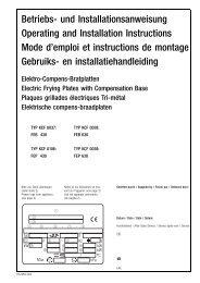 Betriebs- und Installationsanweisung Operating and Installation ...