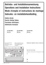 Betriebs- und Installationsanweisung Operations ... - Küppersbusch