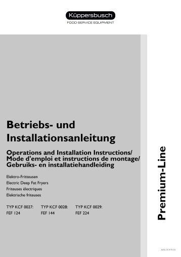Betriebs- und Installationsanleitung Premium-Line - Küppersbusch