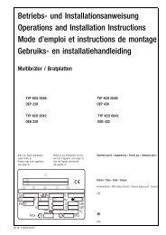 Betriebs- und Installationsanweisung Operations and Installation ...