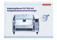 Kippbratpfanne FLP 910 mit Gasgebläsebrennertechnologie