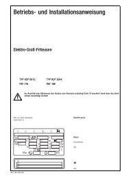 Betriebs- und Installationsanweisung - Küppersbusch