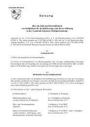 S a t z u n g - Gemeinde Kürnach