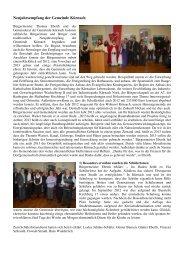 Neujahrsempfang der Gemeinde Kürnach