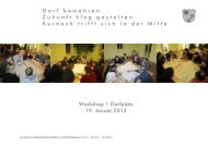 Workshop 1 Dorfplatz 19. Januar 2012 D o r f   b e w a h r e n  Z ...