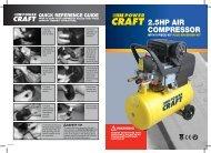2.5HP AIR COMPRESSOR - ALDI UK: Warranty Search