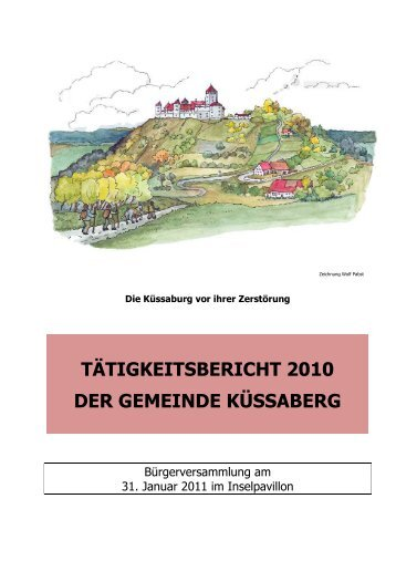 Tätigkeitsbericht 2010 als PDF