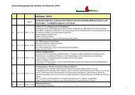 Veranstaltungskalender Oktober bis Dezember 2010