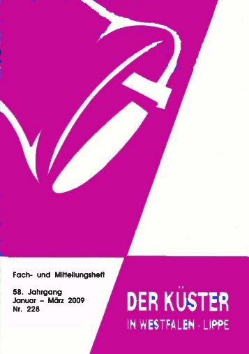 Heft 216 - Ev. Küstervereinigung Westfalen-Lippe