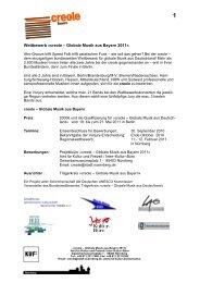 Wettbewerbsinformationen creole Bayern 2011 - KUF - Amt für ...