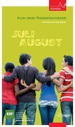 Aktuelles Veranstaltungsprogramm - KUF - Amt für Kultur und Freizeit