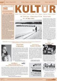Mart / Nisan 2013 Kultur-Tipps in türkischer Sprache März / April ...