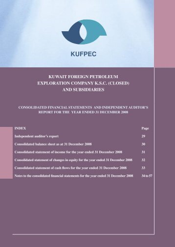 and subsidiaries - Kufpec