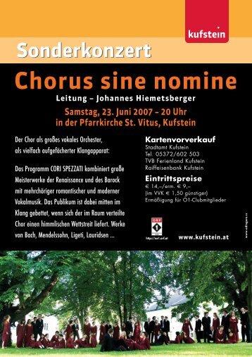Chorus sine nomine - Kufstein
