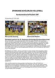 SPARKASSE-SCHÜLERLIGA VOLLEYBALL - Kufstein